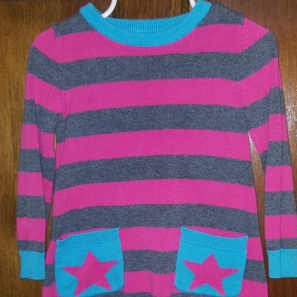 Unknown Other - 3/$10 Girls Striped Knitted Sweater Dress 12-18M